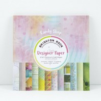 Claritystamp Design Paper Pack 8x8 Brighton Rock