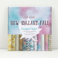 Claritystamp Design Paper Pack 8x8 New England Fall