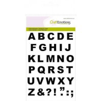 Clear Stamp Alphabets Basic A6