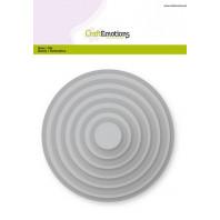 CraftEmotions Big Nesting Die - cirkels Card 150x160 - 1,8-13,0cm