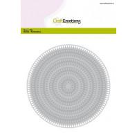 CraftEmotions Big Nesting Die - cirkels scalop XL drop Card 150x160