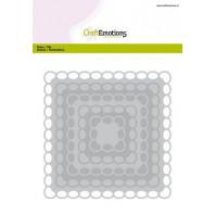 CraftEmotions Big Nesting Die - vierkanten scalop XL oval Card 150x160