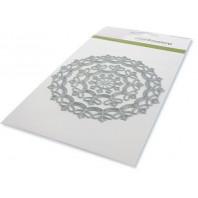CraftEmotions Die - border rond magic flower Card 10,5x14,8cm