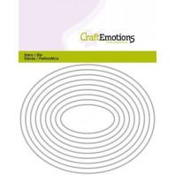 CraftEmotions Die - randen ovaal Card 11x14cm
