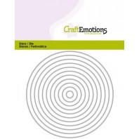 CraftEmotions Die - randen recht cirkel Card 11x14cm