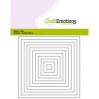 CraftEmotions Die - randen recht vierkant Card 11x14cm