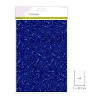 Glitter Papier blauw, 5 vel A4