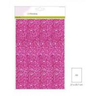 Glitter Papier cyclaam, 5 vel A4