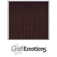 CraftEmotions linnenkarton 10 vel chocolade LHC-79 A4 250gr