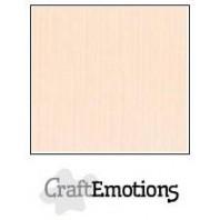 CraftEmotions linnenkarton 10 vel creme LHC-17 A4 250gr