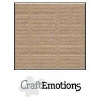 CraftEmotions linnenkarton 10 vel kaki LHC-77 A4 250gr
