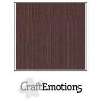 CraftEmotions linnenkarton 10 vel koffie LHC-75 A4 250gr