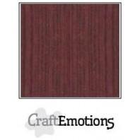 CraftEmotions linnenkarton 10 vel mahoniebruin LHC-78 A4 250gr