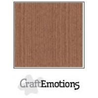 CraftEmotions linnenkarton 10 vel terra bruin LHC-76 A4 250gr