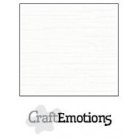 CraftEmotions linnenkarton 10 vel wit LHC-02 A4 250gr