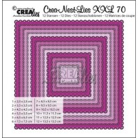 Crealies Crea-Nest-Lies XXL no 70 Squares with open scallop