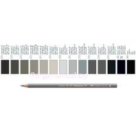 Faber Castell Polychromos kleurpotlood per stuk  zwart en grijs tinten