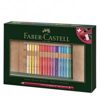 Potloodrol gevuld met 34 Faber Castell  Polychromos Kleurpotloden