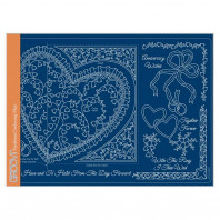 LINDA'S IT'S A WRAP! - FOLDED HEART A4 GROOVI PLATE 41752