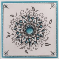 Gerti Hofman Design, Turquoise Gem Stones in Zentangle ENGLISH