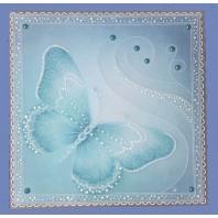 Gerti Hofman Design, Aqua vlinder met stipwerk