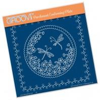 Groovi Plate  LINDA'S DRAGONFLIES
