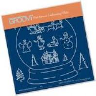 Groovi Plate A6 SNOW GLOBE OUTLINE GRO-CH-41791-01