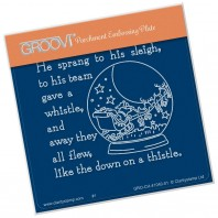 Groovi Plate A6 TWAS THE NIGHT SNOWGLOBE (14) GRO-CH-41040-01