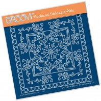 Groovi Plate A6 TINA'S CHRISTMAS SNOWFLAKE PARCHLET
