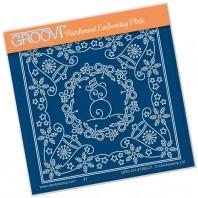 Groovi Plate A6 TINA'S CHRISTMAS SNOWMAN PARCHLET