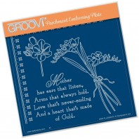 Groovi Plate FREESIAS & MOTHER VERSE  A5
