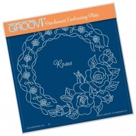 Groovi Plate LINDA'S ROSES & LACE    A5