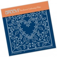 Groovi Plate A6 TINA'S HEART FLOWER PARCHLET