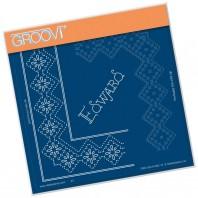 Groovi Grid Piercing Plate A5 EDWARD LACE FRAME CORNER DUET