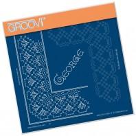 Groovi Grid Piercing Plate A5 GEORGE LACE FRAME CORNER DUET