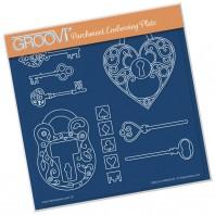 Groovi Plate KEY TO MY HEART A5