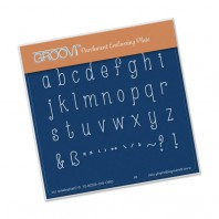 Groovi Plate A6 Hand Drawn Alphabet Lower Case