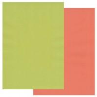 Groovi Parchment Paper A4 Two Tone Lime Twist-Orange Squash