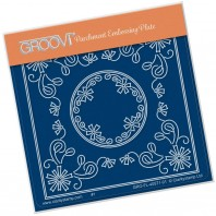 Groovi Plate A6 TINA'S Aster Flower Parchlet