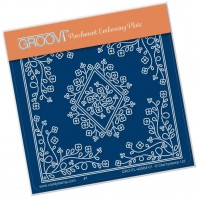 Groovi Plate A6 TINA'S Diamond Flower Parchlet