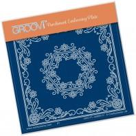 Groovi Plate A6 TINA'S Hexagon Flower Parchlet