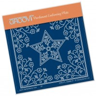 Groovi Plate A6 TINA'S Star Flower Parchlet