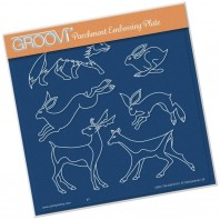 Groovi Plate Woodland Animals A5