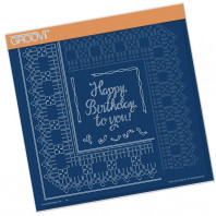 BIRTHDAY RIBBON LACE DUET A4 SQUARE GROOVI PIERCING GRID 41692