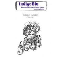 IndigoBlu Stamp Vintage Flourish mounted A6