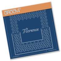 Groovi Plate A5 ITALIAN CITIES DIAGONAL LACE GRID DUETS - FLORENCE 41584