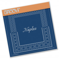 Groovi Plate A5 ITALIAN CITIES DIAGONAL LACE GRID DUETS - NAPLES 41585