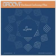 JOSIE DAVIDSON'S LOVE CIRCULAR LACE DUET A5 SQUARE GROOVI GRID 42053