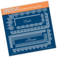 Groovi Plate A5 TINA'S SPIRITUAL LUCK BORDER 41629