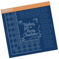 CHRISTMAS RIBBON LACE DUET A4 SQUARE GROOVI PIERCING GRID 41691